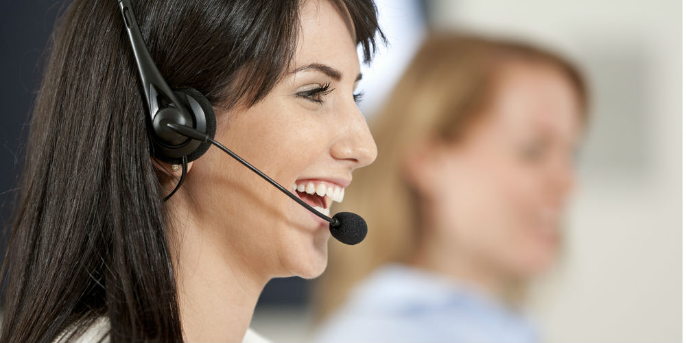 A call center employee