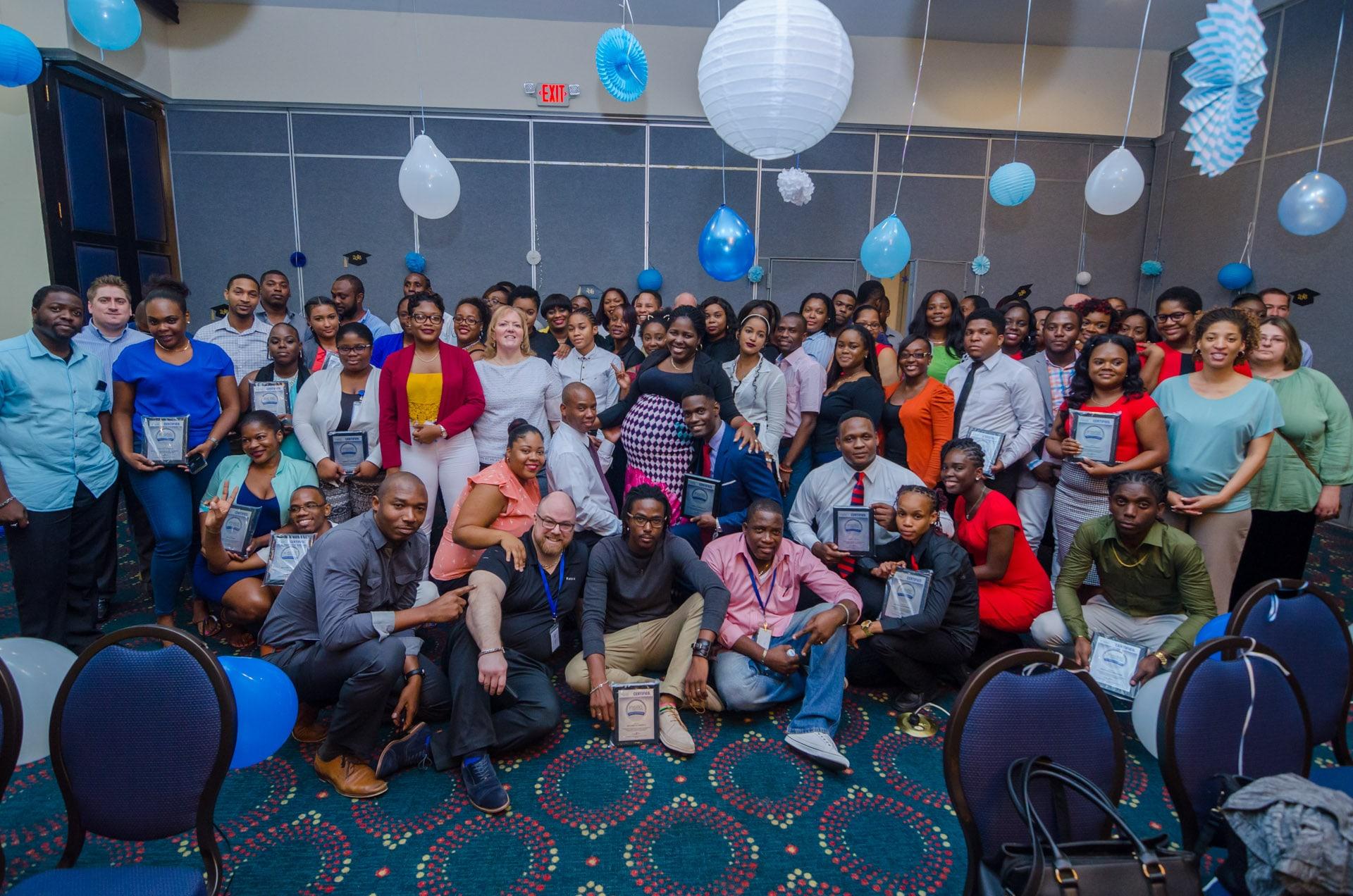 Team Photo at the ACI Leadership Awards - Jamaica